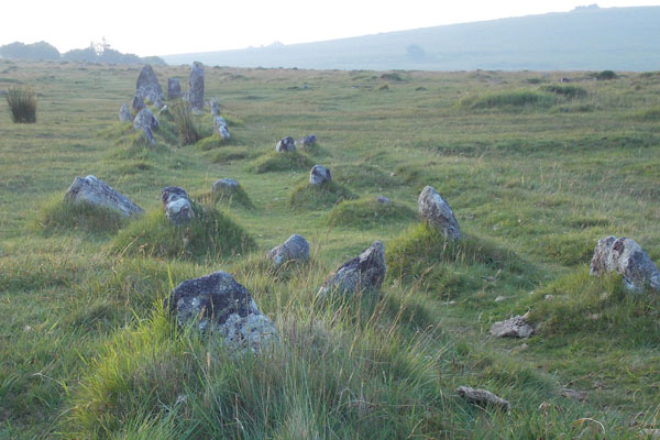 Double Stone Row at the Merrivale ceremonial complex