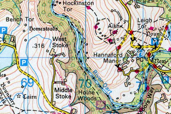 Leigh Tor map
