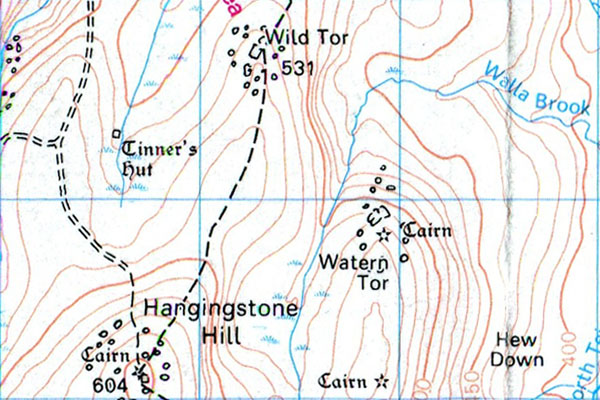 Watern Tor 1:50 location map