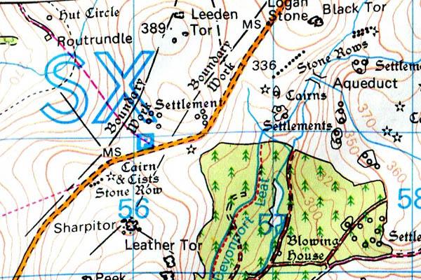 Leedon Tor map
