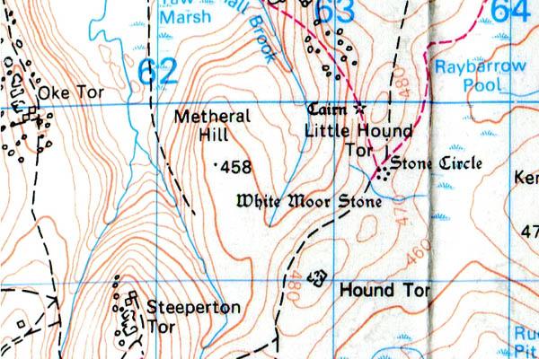 Little Hound Tor map