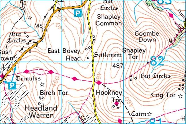 Birch Tor map